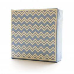 Babay Blue Chevron Art Block- Free Shipping