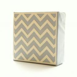 Gray Chevron Art Block- Free Shipping